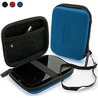 igadgitz Azul EVA Rígida Funda Carcasa para Western Digital My Passport Ultra, Ultra Metal, Air, Mac, X & WD Elements 500GB 1TB 2TB 3TB Externo Disco Duro Case Cover