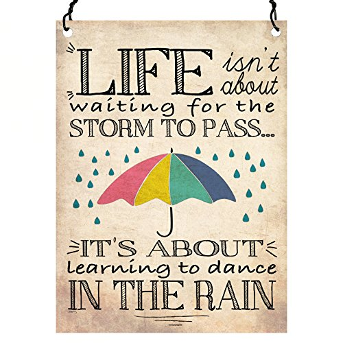 life-isnt-about-waiting-for-the-storm-to-pass-inspirational-quote-wall-metal-small-plaque-sign-retro