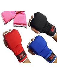 2Fit interior de gel Boxeo Guantes grappling mma, Vendas Boxeo Artes Marciales UFC Unisex, azul