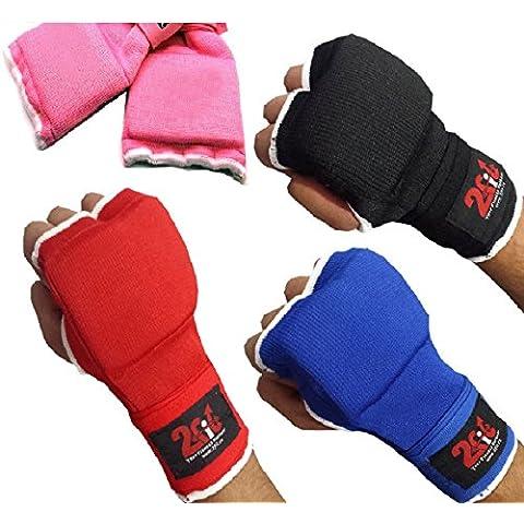 2Fit-Guanti da boxe, con Gel interno Bytomic-Sacco da boxe e arti marziali, allenamento MMA UFC, UniSex, blu