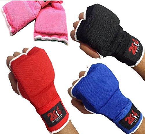 2Fit Box-Innenhandschuhe mit Gel, Handbandagen zum Greifen, MMA, Boxsack, Kampfsport, UFC, Unisex, blau, S (Ufc Gel Wrap)