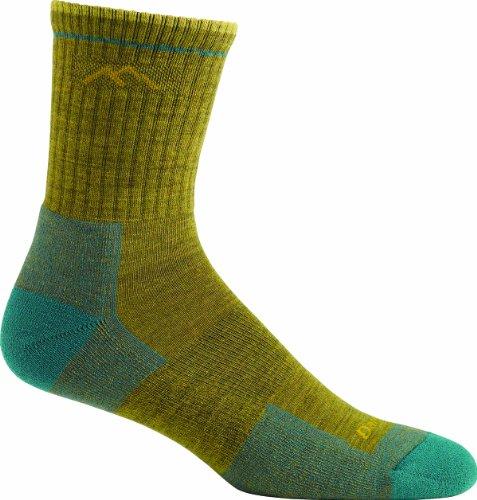 Darn Tough Vermont Damen Merino Wolle Micro Crew Socke Kissen, damen Herren, senffarben (Crew Hiking Coolmax Sock)