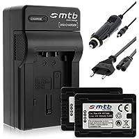 2 Batterie + Caricabatteria (Auto/Corrente) per VW-VBT380 / Panasonic HC-V130, V160, 270, 380, V727... v. lista! con Infochip - Twin Cam Auto