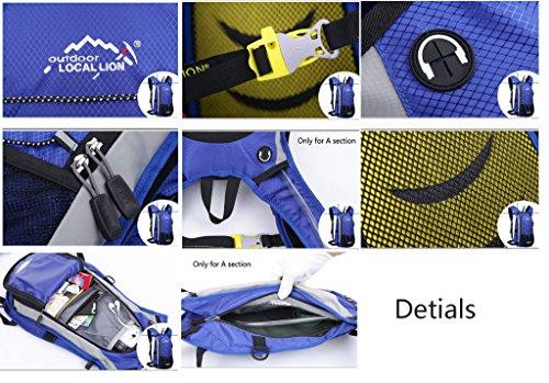 Minetom 12L Unisex Erwachsene Rucksack Camping Wandern Reisen Trekkingrucksäcke Wanderrucksäcke Taktischer Polyester Rainproof Azurblau
