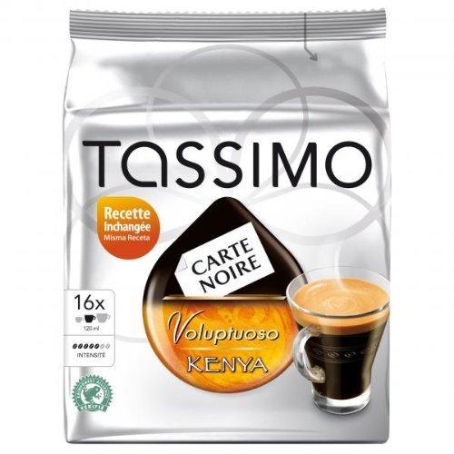 Tassimo Carte Noire Voluptuoso Kenya 4 Pack, 4x16 T-discs by Tassimo