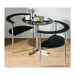 essplatzgruppe love table und 2 st hle schwarz k che haushalt. Black Bedroom Furniture Sets. Home Design Ideas