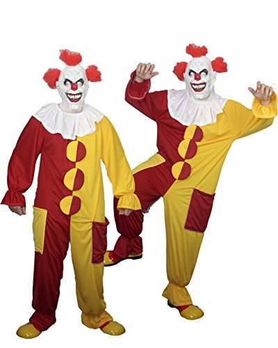 IT the Clown Costume Scary Halloween Fancydress (Red & Yellow, XXX ()