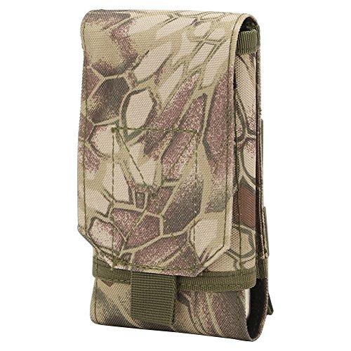5,5Zoll Taktische Gürteltasche Molle Bauchtasche Hüfttasche Nylon 16X8X2,5 cm für Sport Outdoor Wandern Camping CLMW