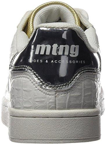 MTNG Attitude 69750, Baskets Basses Femme COCO BLANCO / MIRROR PLATA