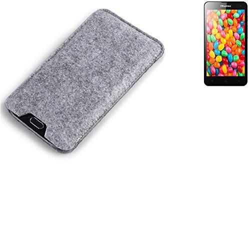 K-S-Trade Filz Schutz Hülle für Hisense HS-U971AE Schutzhülle Filztasche Filz Tasche Case Sleeve Handyhülle Filzhülle grau