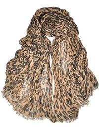 Smallwise Trading Hot Fashion Celebrity Ladies Animal Leopard Print Soft Long Shawl Scarf Wrap (UK Dispatch)