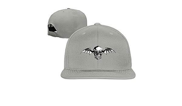 Hittings Fadah Avenged Sevenfold Band Custom Unisex Adjustable Streetwear Baseball Snapback Hip Hop Cap Hat Ash Black