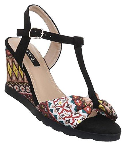 Damen Sandaletten Schuhe Pumps Plateau Heels Stilettos Riemchen schwarz  beige camel 36 37 38 39 40