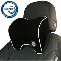 Almohadas para el Reposacabezas del Coche, Cojín Cervical con Soporte de Cuello para el Asiento del Coche con Espuma de Memoria para Conducir