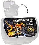Unbekannt Lunchbox / Brotdose -  Transformers  - Incl. Name - mit Extra Einsatz / Hera..