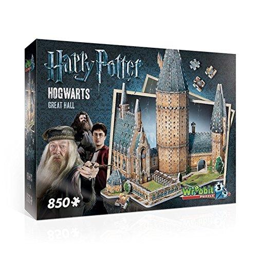 HARRY POTTER Puzzle 3D Diorama CASTELLO DI HOGWARTS Great Hall SALA GRANDE 850 Pezzi