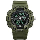NEEKY Herren sockenuhr,Sportuhren,Für Unisex Fitness Uhren - Multi Funktions wasserdichte Uhr Digital Double Action Watch