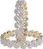 JDX Gold Plated American Diamond Bangles...