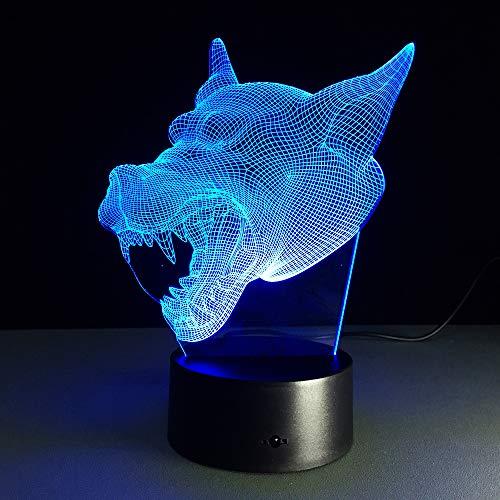 JYHW 3D Lampe 7 Farbe Wolf Led Nachtlampen Für Kinder Touch Led Usb Tisch Baby Schlafen Led Nachtlicht Lava Lampe