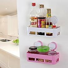 CrazySell - Organizadores de pared para cocina y baño, multiusos, con ventosas