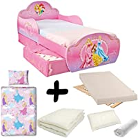 BEBEGAVROCHE Complete Pack Design Bed Drawers = Disney Princess + MATTRESS & Bedding Set Duvet + Pillow +