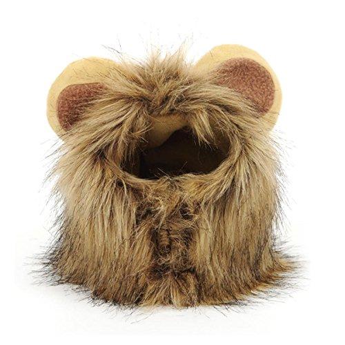 e Halloween löwenmähne für Hunde Katze hundekostüme für kleine Hunde ()