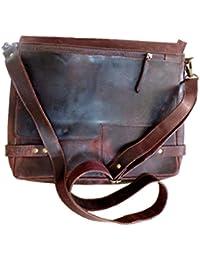 Golden World Women's Leather Sling Bag (Dark Red & Black)