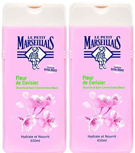 Le Petit Marseillais - Douche et Bain Extra Doux - Fleur de Cerisier Flacon - 650 ml - Lot de 2