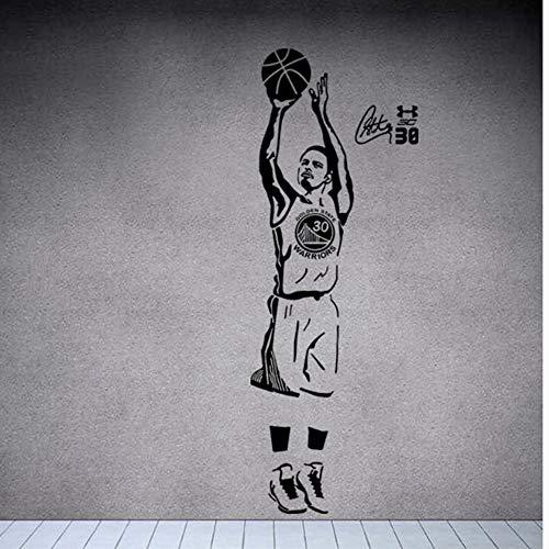 Sport Star Basketball Spieler Wandtattoos Stephen Curry Aufkleber Für Jungen Zimmer Und Schule Einfache Paste Mit