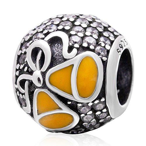 SUNSTAR 925Sterling Silber Bead Charms Xmas Weihnachten jingel Bell Bead Geschenk jewelry Pandora Armbänder & Armreifen