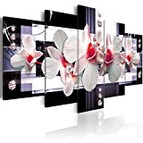 murando® Bilder 200x100 cm - 3 Farben zur Auswahl ! XXL Format! Fertig Aufgespannt TOP Vlies Leinwand - 5 Teilig - Abstrakt Blumen Orchidee Wand Bild Bilder Kunstdrucke Wandbild b-A-0099-b-p 200x100 cm