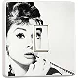 Audrey Hepburn Light Switch Sticker Vinyl / Skin cover sw29