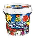 COMPO Balkon- und Kübelpflanzendünger, Blumendünger mit Sofort- und Langzeitwirkung für eine üppige, langanhaltende Blütenpracht, 1,2 kg