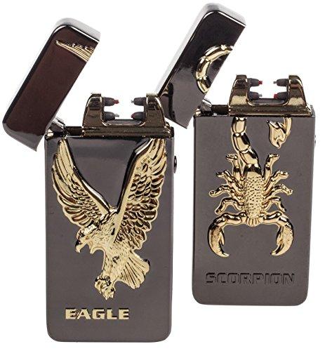 Elektrisches Feuerzeug 2 Pack - USB-aufladbare Arc Tesla Plasma Zigarettenanz&uumlnder - 5 Designs