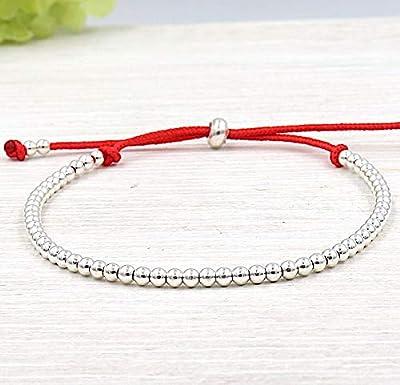 Bracelet cordon perles argent 925