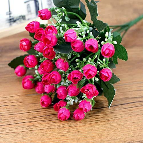 Awfand fiori artificiali rose di seta piante finte composizioni floreali, 36 teste bouquet da sposa per la decorazione domestica di nozze per feste in giardino