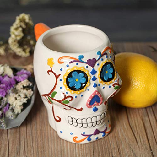 AHTOSKA Creative Gifts - Taza de cerámica, diseño de Calavera...