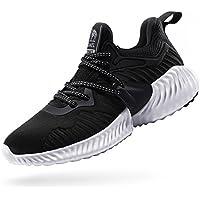 Camel Crown Zapatillas de Deporte,Zapatos de Running Mujer,Zapatos para Caminar,Zapatillas Cordones,Resistente al Choque Absorción de Impactos,Negro