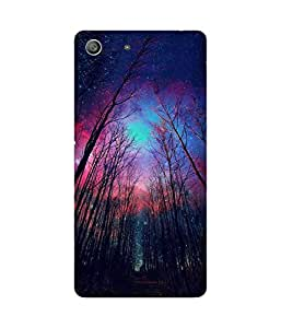 Sky Stars Printed Back Cover Case For Sony Xperia M5
