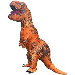 Inflatable Dinosaur Costume Tyrannosaurus Rex Disfraz hinchable con diseño de tiranosaurio rex, ideal para cosplay