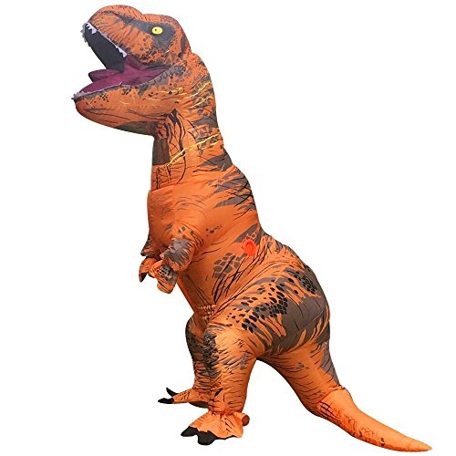 Kostüm Aufblasbare Für Erwachsene Dinosaurier - bowknotsweete Dinosaurier-Kostüm Tyrannosaurus Rex Kleidung Erwachsene Aufblasbarer Anzug Abendkleid H2.2M (Gesamt 3.2M einschließlich Schwarz)