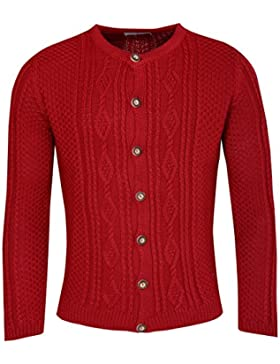 Almsach Strickjacke Ferdl in Rot