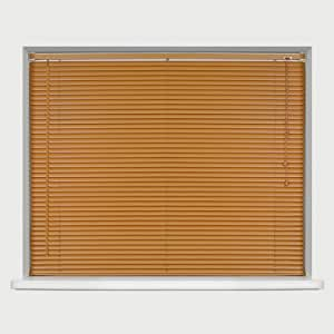 EASYFIT TEAK Wood Effect Venetian blind * AVAILABLE IN WIDTHS 45 CM TO 210 CM * ALSO AVAILABLE IN DARK OAK, BLACK and NATURAL COLOURS* 165 x STANDARD