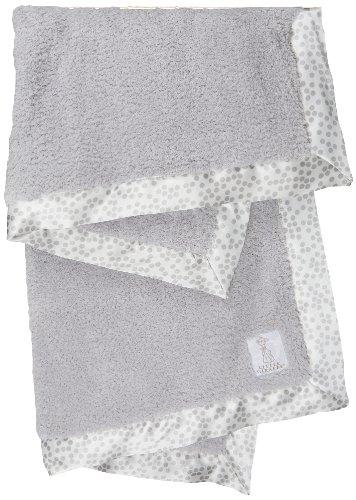 Little Giraffe Chenille Confetti Baby Blanket (Silver)