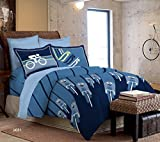 Bombay Dyeing 210 TC Cotton Double Bedsheet with 2 Pillow Covers - Blue