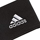 Adidas Boy's Tennis Wristband - Black/White, One Size