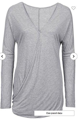 Unbekannt - Sweat-shirt - coupe large - Femme multicolore Mehrfarbig Gris