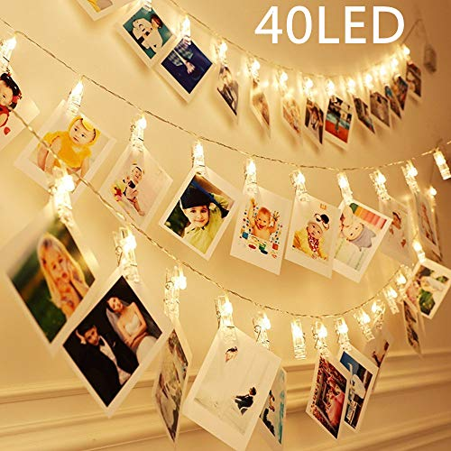40 LEDs Clips Photos Guirlande L...
