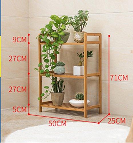 Stand De Fleurs Plancher, fleur, support, salon, multi - étages, bois, cadre, fleur, lit, cadre, pliant, fleur. (taille : M)
