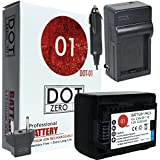 DOT-01 Brand Canon HF R700 Battery And Charger For Canon HF R700 Camera And Canon HFR700 Battery And Charger Bundle For Canon BP718 BP-718